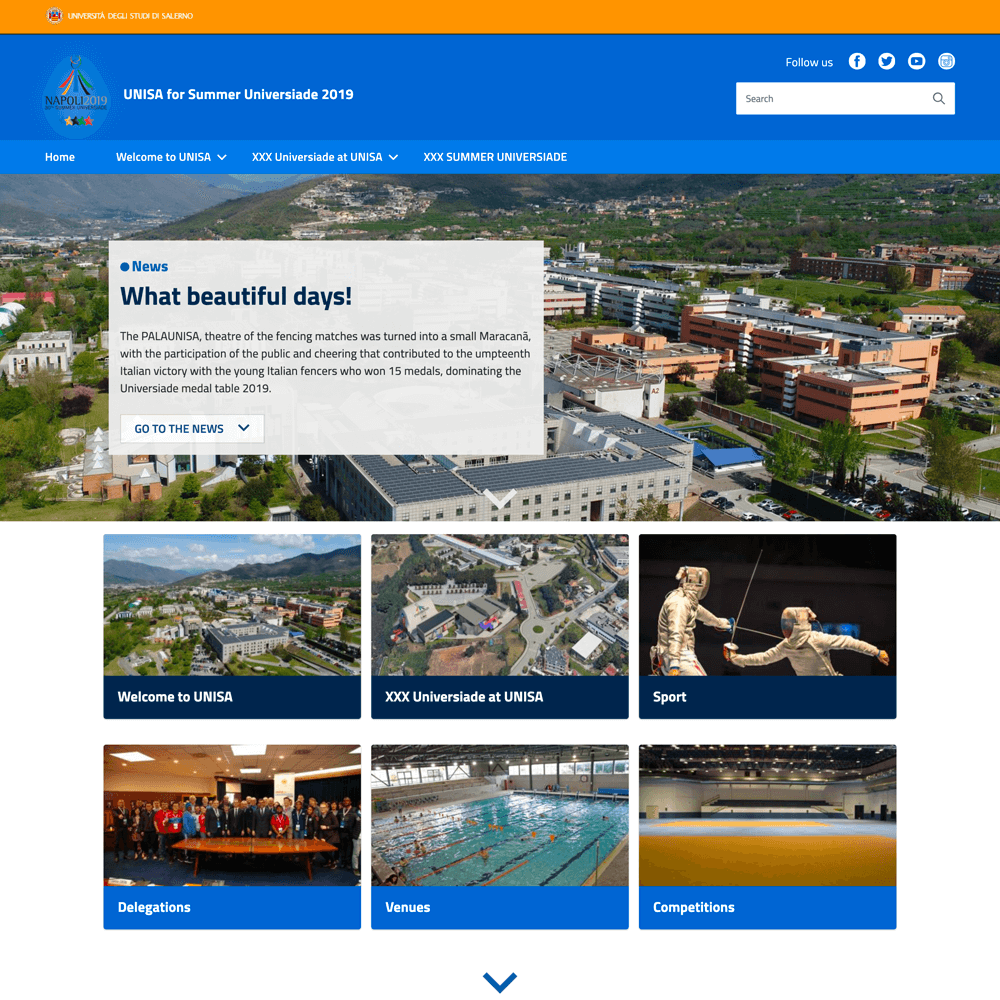 Portale UNISA for Summer Universiade 2019